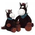 Лошадка чёрная, сидячая,25 см