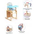 Мишутка Стул-стол для кормления ГЛОБЭКС Голубой