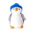 AURORA Игрушка мягкая Пингвин в синей шапке 30 см