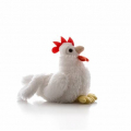 AURORA Игрушка мягкая Петушок белый 15 см