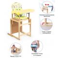 Мишутка Стул-стол для кормления ГЛОБЭКС Желтый