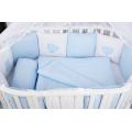 Комплект детского постельного белья 18-и предметный (6+12 бортиков) AmaroBaby КРОХА Premium (голубой)