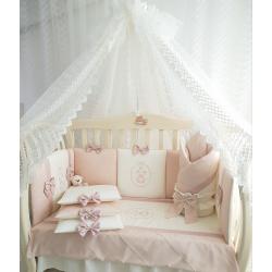 Набор в кроватку для новорожденных Mary, 13 пр (беж-персик)