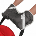 BAMBOLA Муфта для коляски шерстяной мех+плащевка+кнопки Серая
