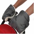 BAMBOLA Муфты-варежки для коляски шерстяной мех+плащевка(лайт) Серые
