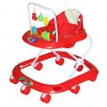BAMBOLA Ходунки СЧИТАЛКА (8 колес,игрушки,муз) 6 шт в кор (67*60*51) RED красный