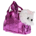 Собака в сумочке болонка 16 см MY FRIENDS в пак. в кор.24шт