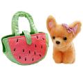Мягкая игрушка собака чихуахуа 19см в сумочке