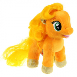 Игрушка мягкая Мой маленький пони эпплджек, 18см, без чипа, в пак. Мульти-пульти в кор.24шт