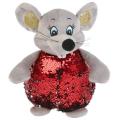 Игрушка мягкая Мышка красная блестящая 16см без чипа в пак. Мульти-пульти в кор.24шт
