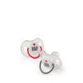 13026, Набор силиконовых сосок-пустышек, 6-12, 2 шт. (grey&ruby)