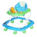 BAMBOLA Ходунки МИШКА (8 колес,игрушки,муз) 6 шт в кор.(67*63*52) BLUE+GREEN голубой