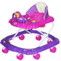 BAMBOLA Ходунки МИШКА (8 колес,игрушки,муз) 6 шт в кор.(67*63*52) PURPLE+PINK фиолетовый