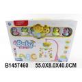 Музыкальная карусель для кроватки на бат. 5 ярких подвесных игрушек, колыбельные мелодии, свет. эффекты, пластик, в/к 55*8*40 см.