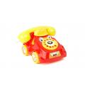 Весёлый телефон на колёсах, циферблат крутится, звук. эффекты, 20*19*12 см.