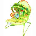 LA-DI-DA Шезлонг ФРУКТОВЫЙ РАЙ, 1 полож.спинки, дуга с игруш.,склад.капор,50х64х50 см, 6 шт в кор.