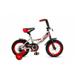 14-4 Велосипед SPORT (серебристо-красный)