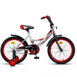 18-4 Велосипед SPORT (серебристо-красный)