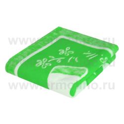 ЕРМОЛИНО Одеяло детское байковое х/б 140*100 Зеленый в ассортименте