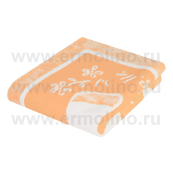 ЕРМОЛИНО Одеяло детское байковое х/б 140*100 Персик в ассортименте