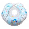 FLIPPER Круг на шею для купания малышей музыкальный Лебединое озеро Голубой
