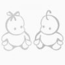 Детский матрас PLOOMABABY OVA 1 круг 75*75*10 (из 2 половинок)